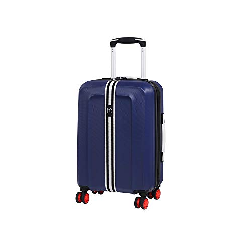 it luggage Jupiter 8 Wheel Cabin Spinner Expandable Hard Case Maleta, 54 cm, 47 Liters, Azul (Sodalite Blue)