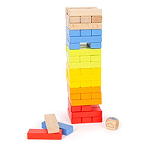 Small Foot 11692 Wackelturm Regenbogen, Spieleklassiker für die ganze Familie, Motorikspielzeug, ab 3 Jahren Toys