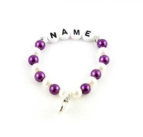 Tauf- Geburts- Namen- Baby- Kinder-Armband mit Schutzengel u. Ihrem Namen personalisiert