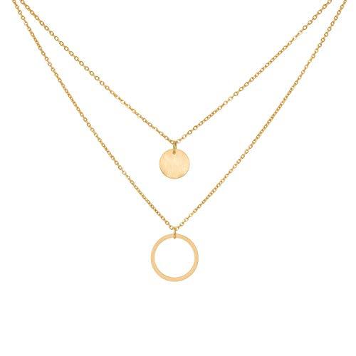 a little something ® Halskette Belleville | Damen Kette mit 18 Karat Vergoldung in Gold | Inklusive nachhaltiger Geschenkverpackung (FSC®-Zertifikat)