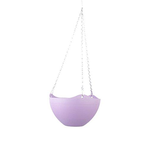 Yardwe Canasta de Plantas Colgante Canasta de macetas de plástico para Plantas (púrpura)