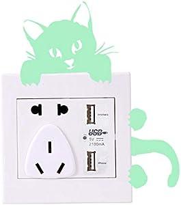 PAYA Puss fluorescent living room bedroom switch sticker , 2724628577314