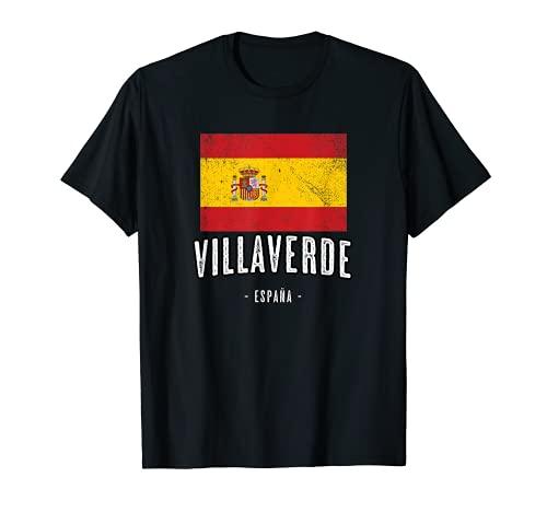 Villaverde España   Souvenir Linda Ciudad - Bandera Española Camiseta