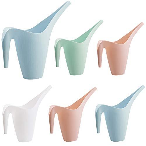 dancepandas Kunststoff Gießkanne 350ml 6PCS Blumengießkanne Plastik Gartengießkanne für Bewässerung, Garten, Haus, mit Komfortgriff, leicht