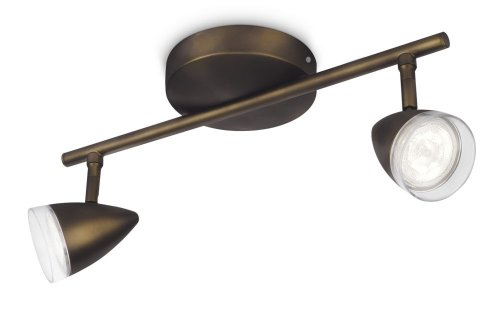 Philips myLiving Maple LED Aufbauspots, EEK A+, 2-flammig, antik bronze 532120616