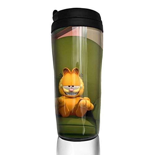 AOOEDM Anime Cat Garfield Reisekaffeetassen Doppelwandige Vakuumbecher Isolierte Tasse -12 Unzen