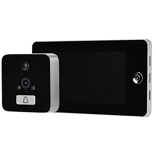Visor de Puerta eléctrico, 4.3 Pulgadas Visible Inteligente 960P Timbre de Puerta...