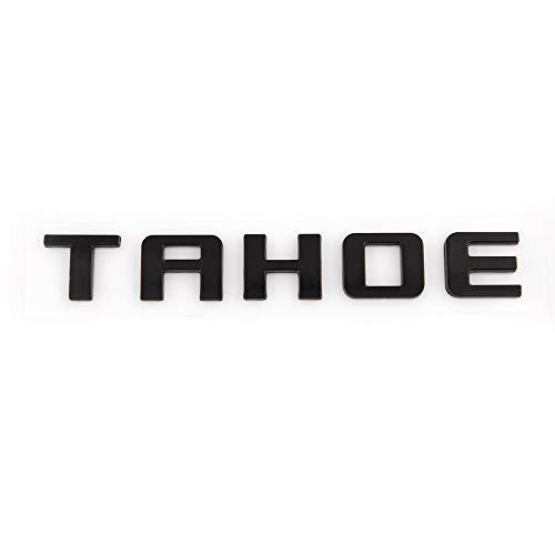 1x Tahoe Nameplate Emblem Fender Side Door Sticker Letter Badge Replacement for Chevrolet Gm 2007~2016 (Matte Black)