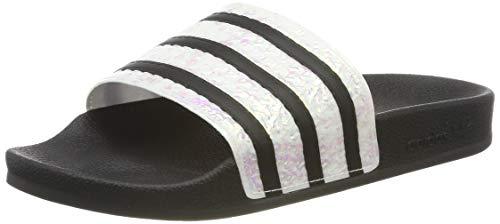 adidas Damen Adilette Dusch-& Badeschuhe, Schwarz (Core Black/Grey Two F17), 39 EU