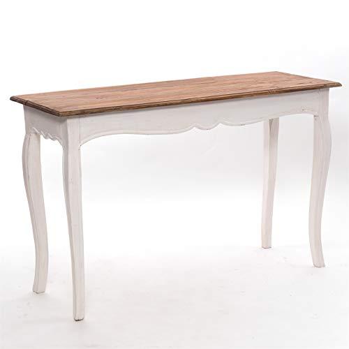 DESIGN DELIGHTS Tavolo da concerto ROKO   115 x 72 x 40 cm (L x A x P), legno riciclato, stile shabby   Colore: 06 bianco