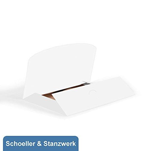 Schoeller & Stanzwerk© - 25 Stück stabile Bildermappen Davin für 13x18 cm Fotos in weißer Farbe mit leichter Struktur ohne Passepartou