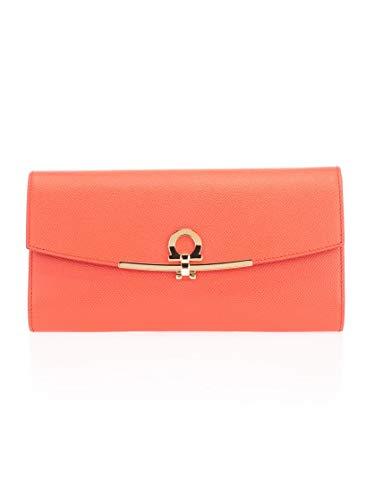 Salvatore Ferragamo Luxury Fashion Donna 22C941 Arancione Portafoglio |