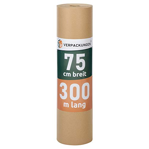 1 Rolle Natronpapier 75 cm x 300 m braun Natronmischpapier Polsterpapier Packpapier thumbnail