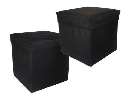 Preform 4201621101B 2-Stück Canvas Hocker mit Aufbewahrung