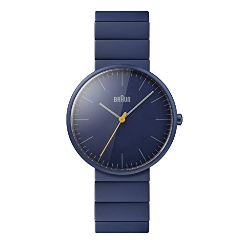 BRAUN Unisex Erwachsene Analog Quarz Uhr mit Keramik Armband BN0171NVNVG