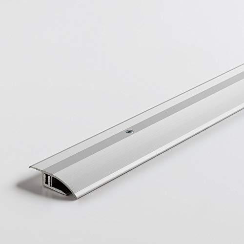 Parador Boden-Profile Anpassungsprofil Aluminium Silber für Vinyl/Laminat Bodenbeläge 7-15 mm