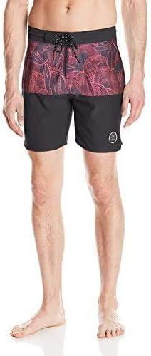Drift Men's Rincon Board Shorts, Red, 40