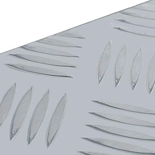 WENXIA Alubox | Allzweck-Transportkoffer | Deichselbox | Aufbewahrungsbox | mit Verriegelungssystem | Silber 80 × 30 × 35 cm - 2