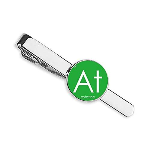 Química Elementos Período Tabla Halógenos Elemento Astatina En Corbata Clip Bar Regalo Hombre De Negocios