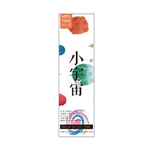 lijun 30 Stück/Set Planet Lesezeichen Message Card Creative Paper Lesezeichen Buchhalter