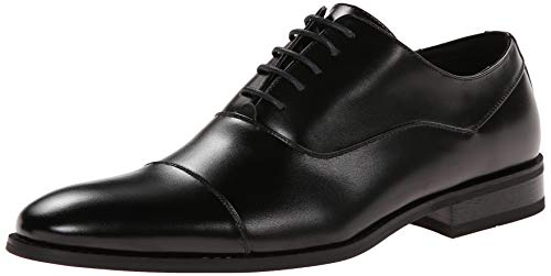 Kenneth Cole Unlist Half Time - Puntera para Hombre Oxford, Negro, 11