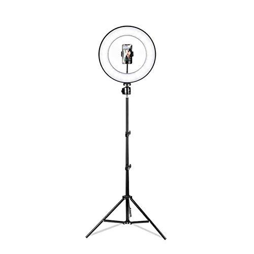 LYNNDRE Anillo De Luz, Anillo De Luz para Selfies De 10'con 3 Modos De Color Y Un Trípode Extensible, Soportes para Teléfono, Obturador Remoto Bluetooth para Video Y Transmisión,10 Inch
