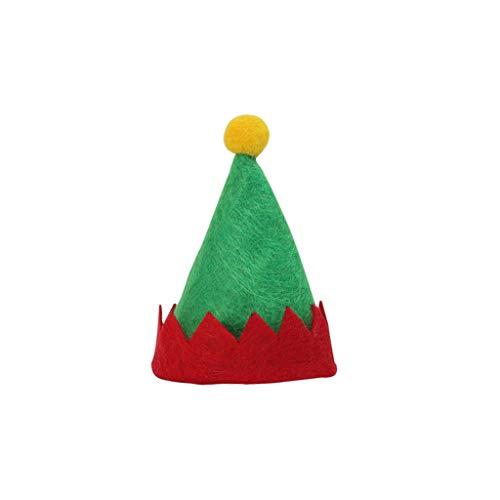 WARMWORD 12 Piezas Mini Sombrero de Navidad Gorro de Elfo Sombrero de Piruleta Dulces Bolsa de Botellas de Vino...