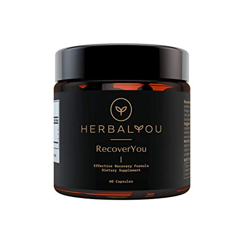 RecoverYou by HerbalYou - Effective Recovery Formula and Detox Supplement for Hangover Prevention, 60 Capsules