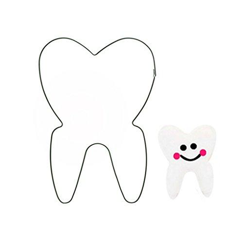 rongweiwang Form Zähne Feiertags-Plätzchen verziert Scherblock-Form Biskuitform Ausstechform Edelstahl-Kuchen-Biskuit-Form