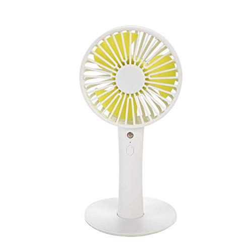 WYZXR Mini Handheld Fan USB Rechargeable Desk Fan 3 Speed Adjustable Small Personal Fan with Makeup Mirror for Outdoor Personal Cooling Office Household Traveling Pink