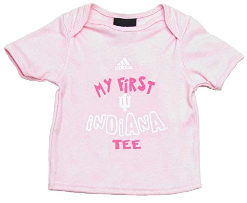 Indiana Hoosiers Baby Girl First Pink Tee - T-Shirt (6-9 Months)