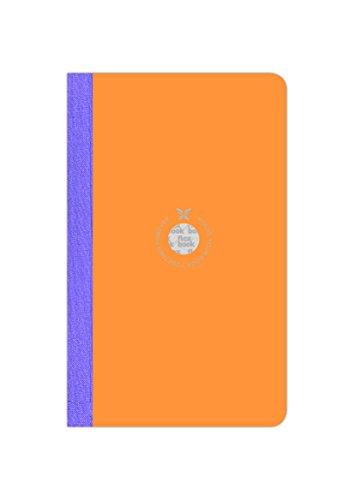 Flexbook smartbooks Notizbuch 160Seiten liniert 13 x 21 cm Couverture Orange/Dos Mauve