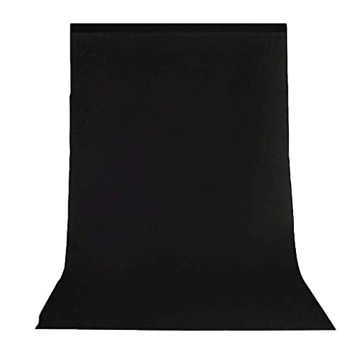jieGorge Professional 5.2x9.8ft Non-Woven Fabrics Black Screen Photo Backdrop Studio , Decors for Home Christmas New Year (As Show)