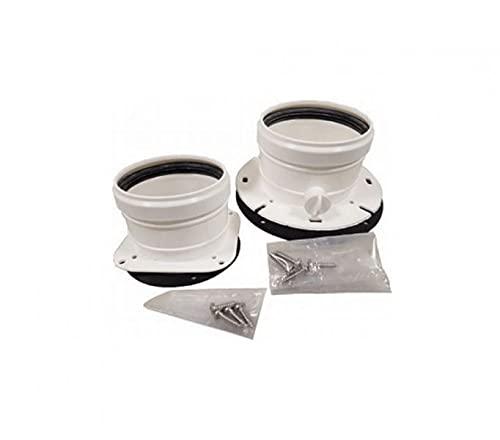 Kit de desagüe para caldera de conductos separados 80-80 Ferroli sin humos, plástico PPS
