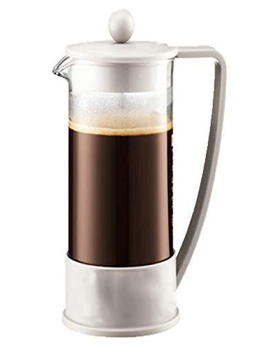 SJQ-coffee pot CafetièRe à Espresso en Acier Inoxydable - Marmite à Pression de Haute Qualité PresséE à la Main - avec Filtre Coupe - Verre RéSistant à la Chaleur, pour Usage Domestique -1000ml
