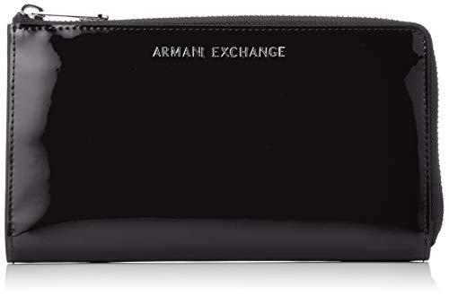 ARMANIEXCHANGE『エナメルタッチラウンドジップ長財布(948006)』