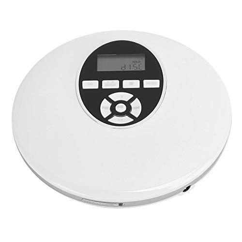 Bluetooth draagbare cd-speler, compact disc-afspeelapparaat, professioneel gemaakte cd-speler, ondersteunt geheugenkaart en Bluetooth-apparaten, witte kleur(Bluetooth-type)