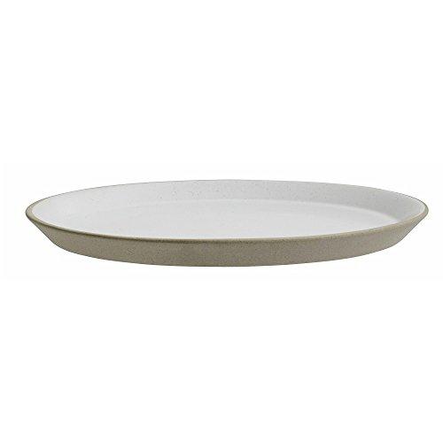 Steingut Kuchenteller beige weiß Kleiner Teller von NORDAL 22 cm
