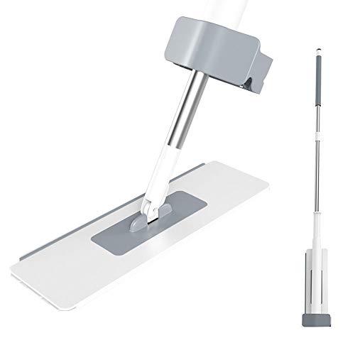 CROWNXZQ Spin Lazy Flip Trapeador Plano con recambios Reutilizables, seco en húmedo para el hogar, baño, Cocina, Limpieza, Piso de Microfibra, Manos Libres, 4 Almohadillas, Herramientas de Limpieza