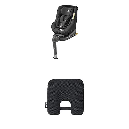 Maxi-Cosi Beryl, Silla coche Isofix Grupo 0+, 1, 2, contramarcha y reclinable, crece con el niño desde nacimiento hasta 7 años, negro + Dispositivo antiabandono para silla de coche, Negro