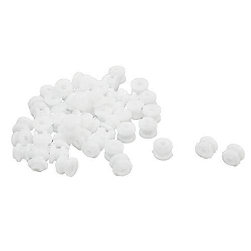 Newin Star 50 Stück 6 x 5 mm Kunststoff Riemenscheibe 2 mm Loch Umlenkrolle für DIY Spielzeug Flugzeug RC Auto, Weiß