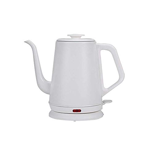 WZMFDC Electric Kettle Tea Coffee Pot Slender Spout Matte Texture Stainless Steel Kettle LED Heating Lamp 600ml (Color : A) dongdong (Color : A)