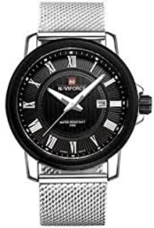 Naviforce Dress Watch For Men Analog-Digital Stainless Steel - NF9052M