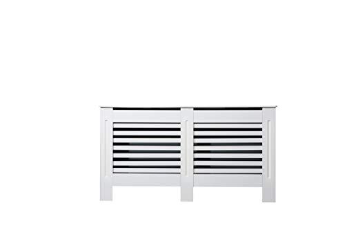 Cubre radiador de tablero DM, moderno, diseño horizontal, para sala de estar, habitación, color blanco, S, M, L, XL