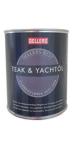 OELLERS Premium Teak & Yachtöl | Teaköl aus natürlichem Holzöl für Innen und Aussen | für Hart- und Exotenholz | wetterfest | farblos
