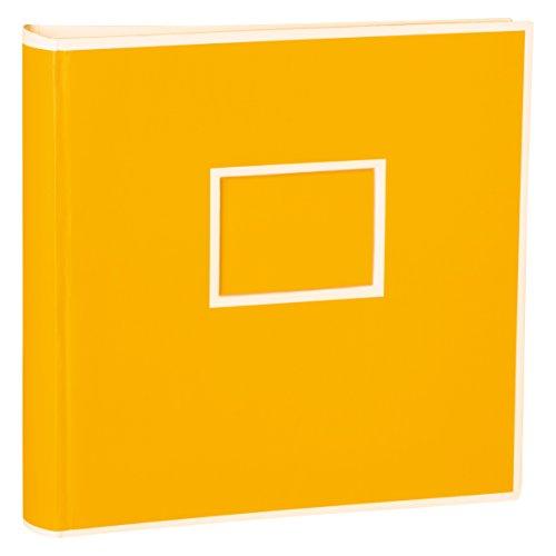 Semikolon (351094) Jumbo Album sun (gelb) - Fotoalbum/Fotobuch mit 50 Blättern cremeweißem Fotokarton mit Pergaminpapier - Format: 30x30 cm