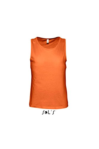 Sols - Justin - Herren Tank Top , Orange , XXL