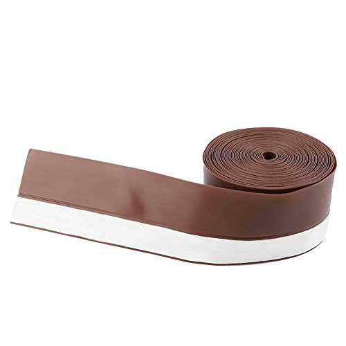 Hongzer Tira de Sellado, Tira de Sellado autoadhesiva de prevención del Polvo del Insecto del Viento de la Ventana de la Puerta de 5M 45mm(marrón)