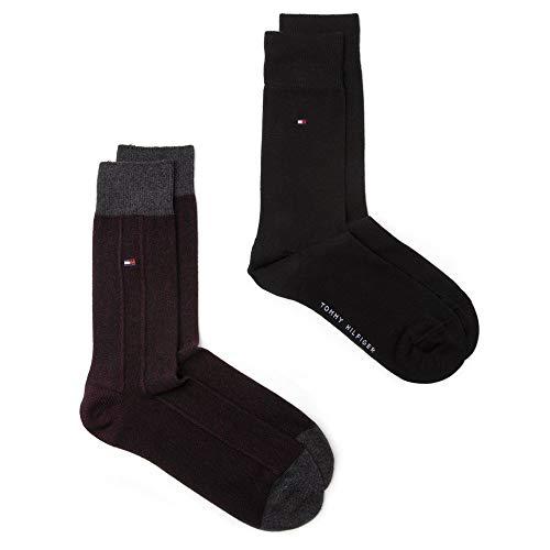 Tommy Hilfiger Herren 2 Pack Casual Socks Socken Mehrfarbig Lrg