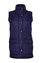 Champion Country Clothing Womens Dorney Quilted Gilet Light Quilted Design, Floral lining Twin Lower Side entry Pockets , Inside pocket Antique Gold Coloured Accessories 100% Polyester